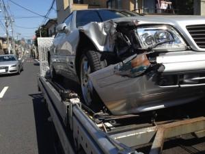 SL500の事故現状車