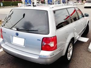 VWパサートワゴンの後ろ姿