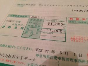 ポルシェの税金はしっかり満額51,000円