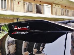 シボレー トレイルブレイザーの大型リアスポイラー