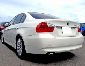 E90 BMW3シリーズのリアビュー