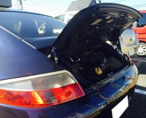 PORSCHEといえば911のRRエンジン。そこはトランクではなくエンジンルームなんです
