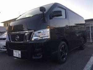 高額買取り車キャラバンNV350のスタッドレス交換コンプリート