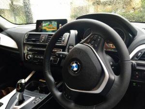 BMW1シリーズのナビはなかなか快適です