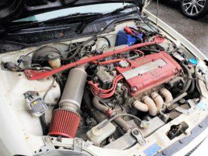 B16Bエンジンは1600ccで185馬力